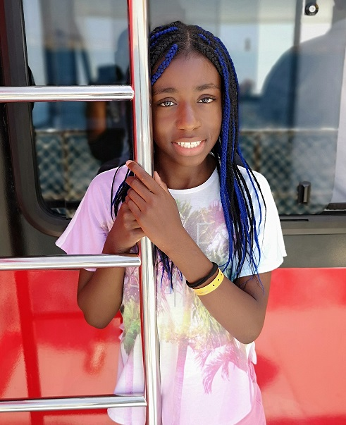 Heart transplant patient Makena, following her recovery