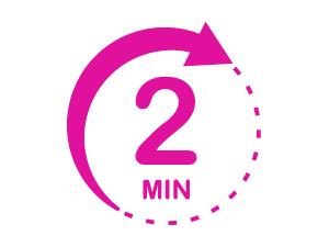 '2 minutes' graphic