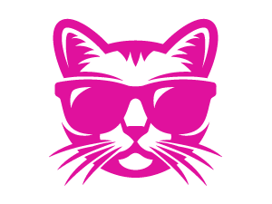 Cat in sunglasses graphic