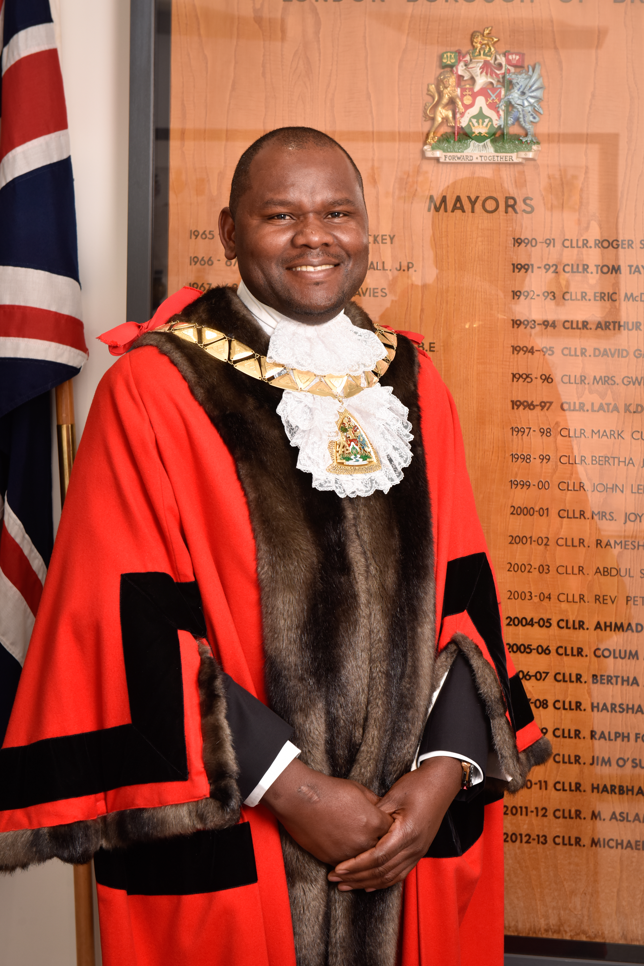Councillor Ernest Ezeajughi, Mayor of Brent