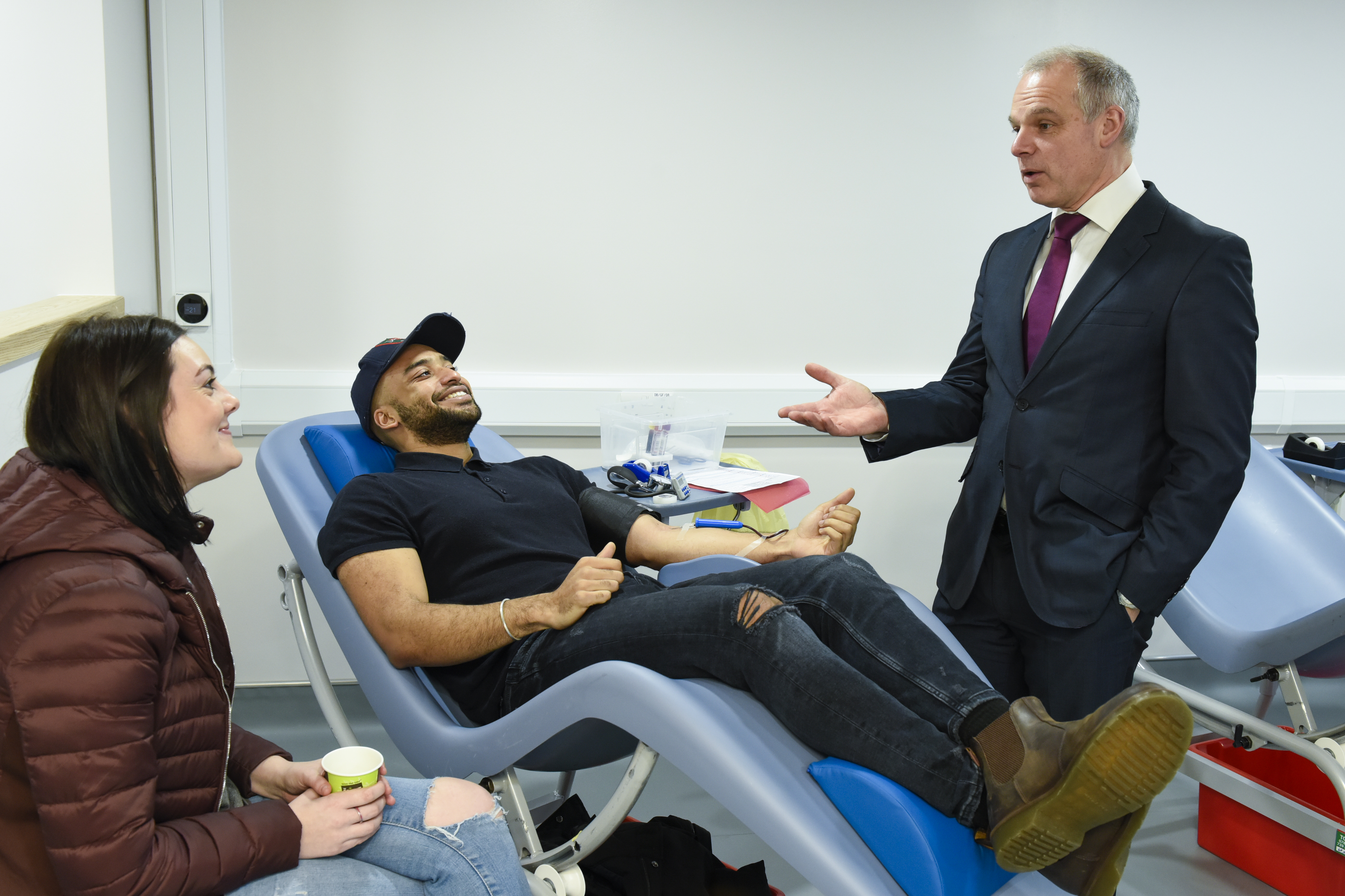 Mike Stredder at West End Donor Centre