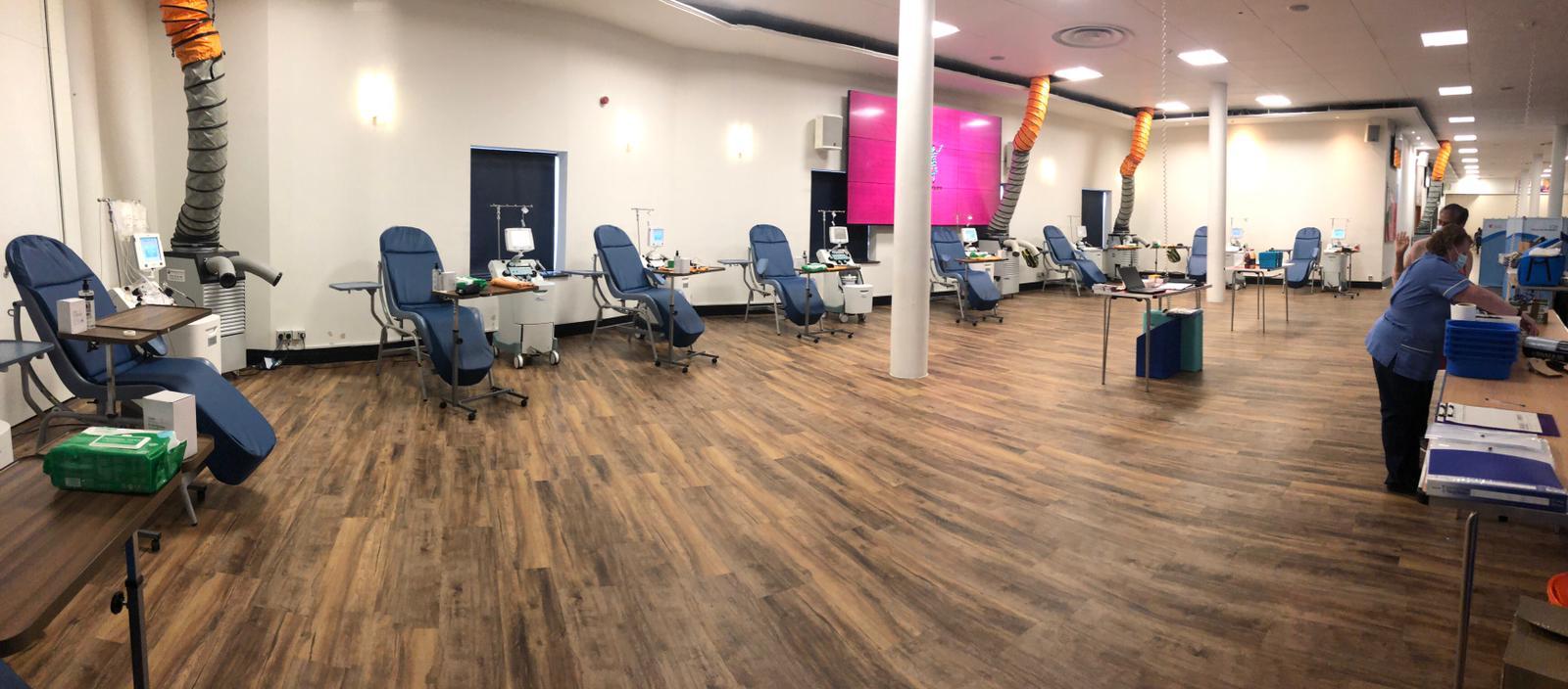 'pop-up' COVID-19 convalescent plasma donor centre