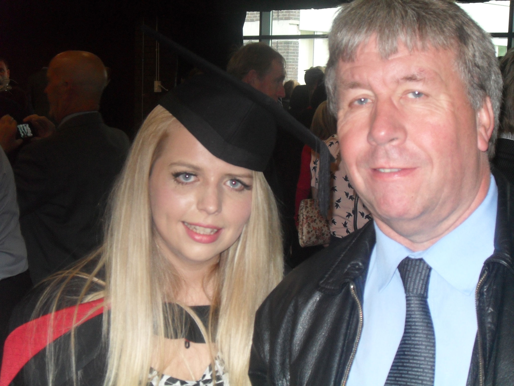 Alan Mack and daughter Rebecca at a graduation ceremony