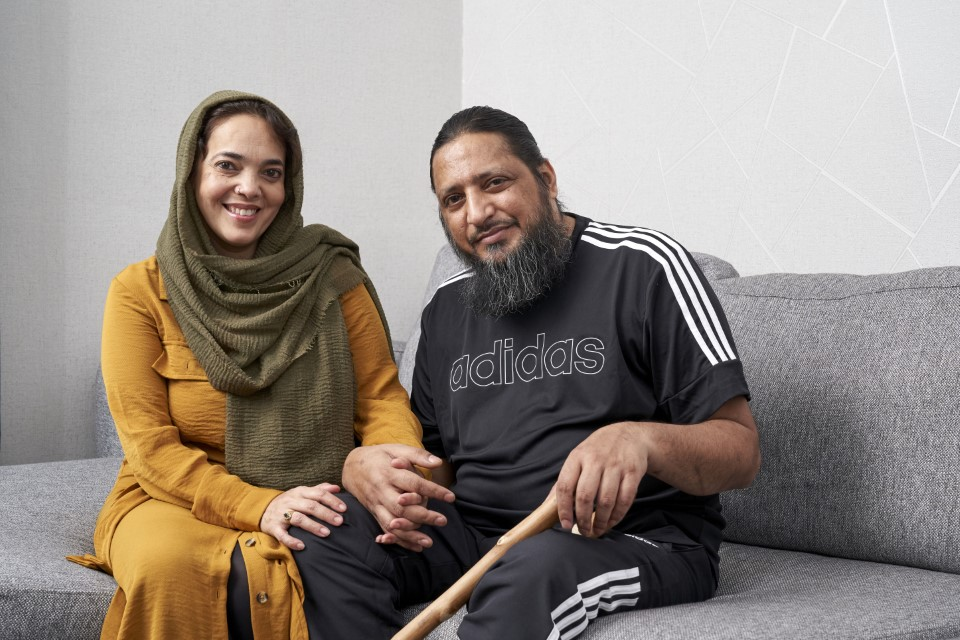 Ahmed and his wife Shannaz