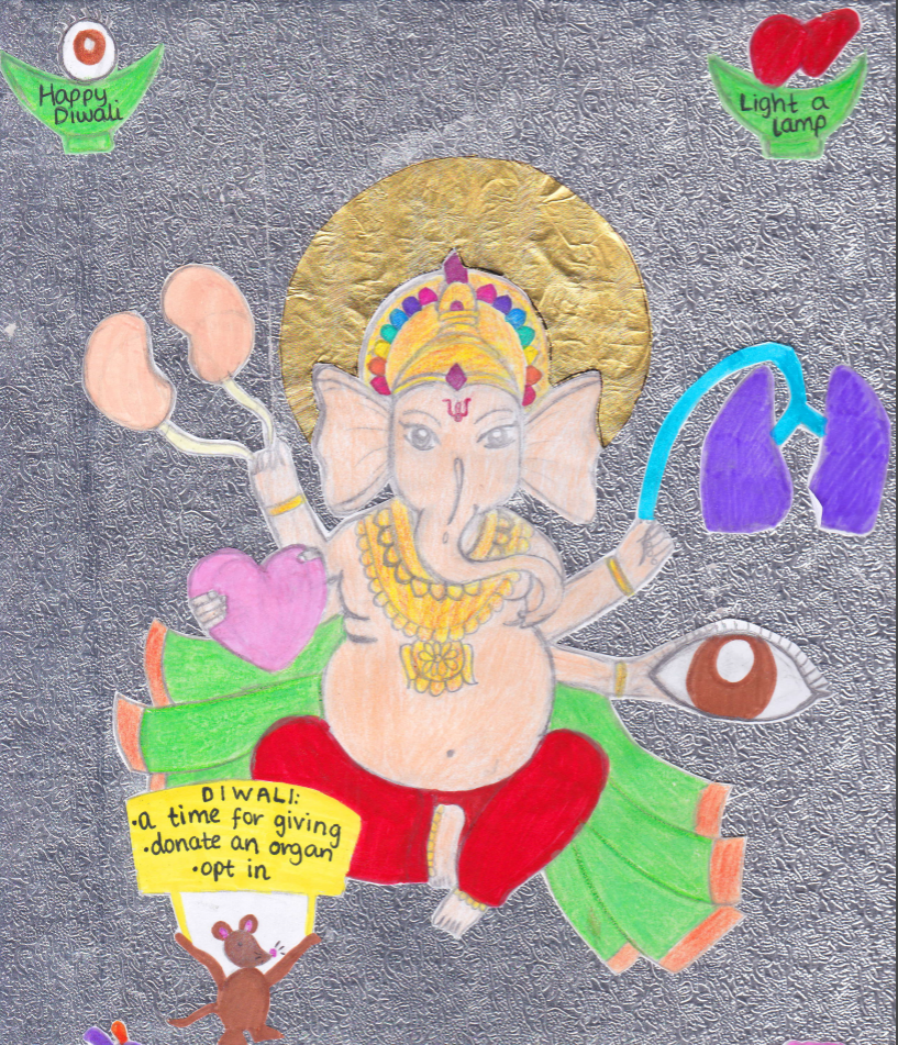 Saanvi's artworks shows Ganesh