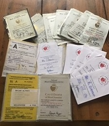 Brian's certificates he's received over the years