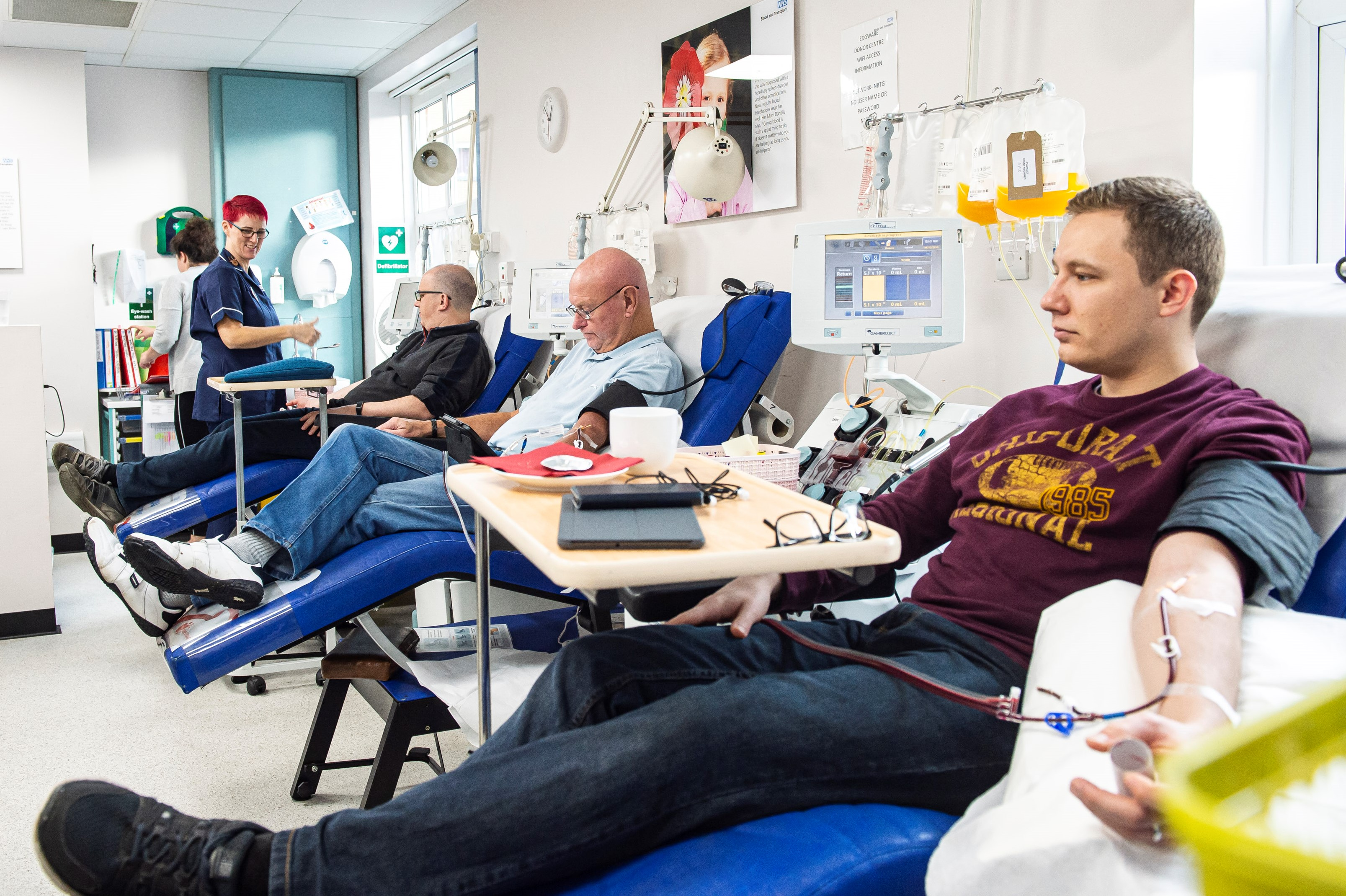 Donors crossing their legs