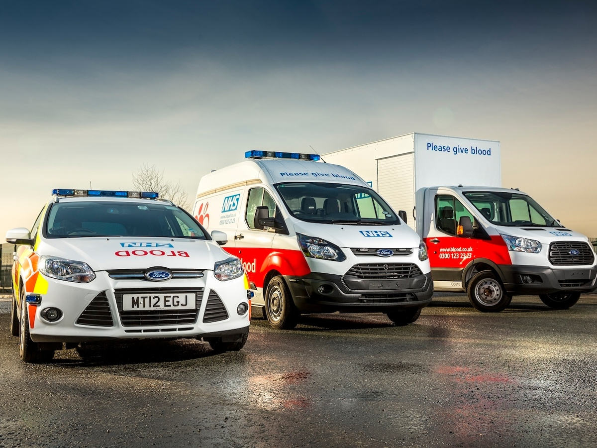 NHS Blood and Transplant vehicles