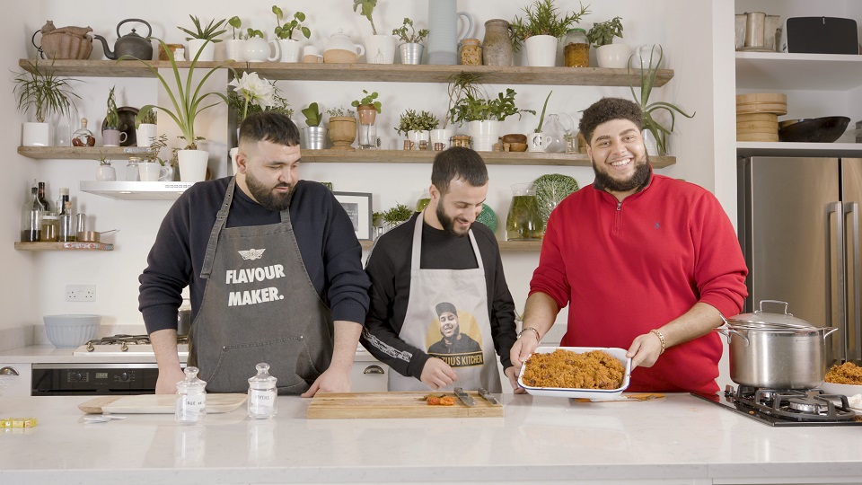 Grime artist and chef Big Zuu shows off his delicious jollof rice