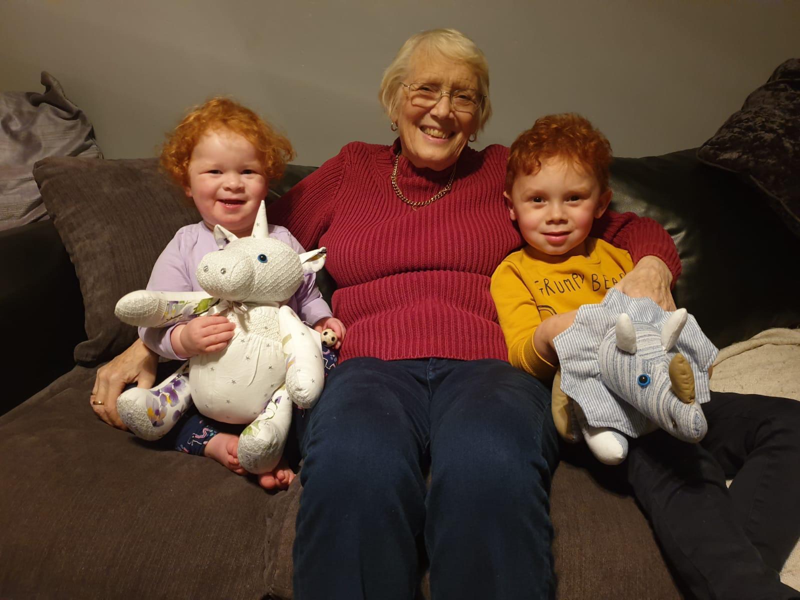 Nancy and her great grandchildren