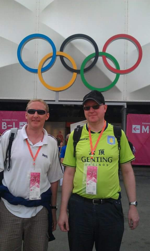 Alan and his brother at the London 2012 Olympics