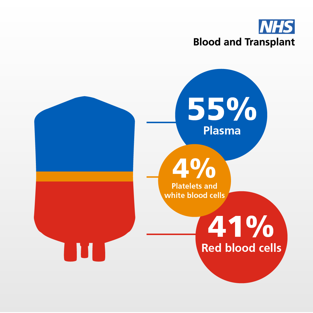 Plasma is part of your blood, containing antibodies which fight infections.