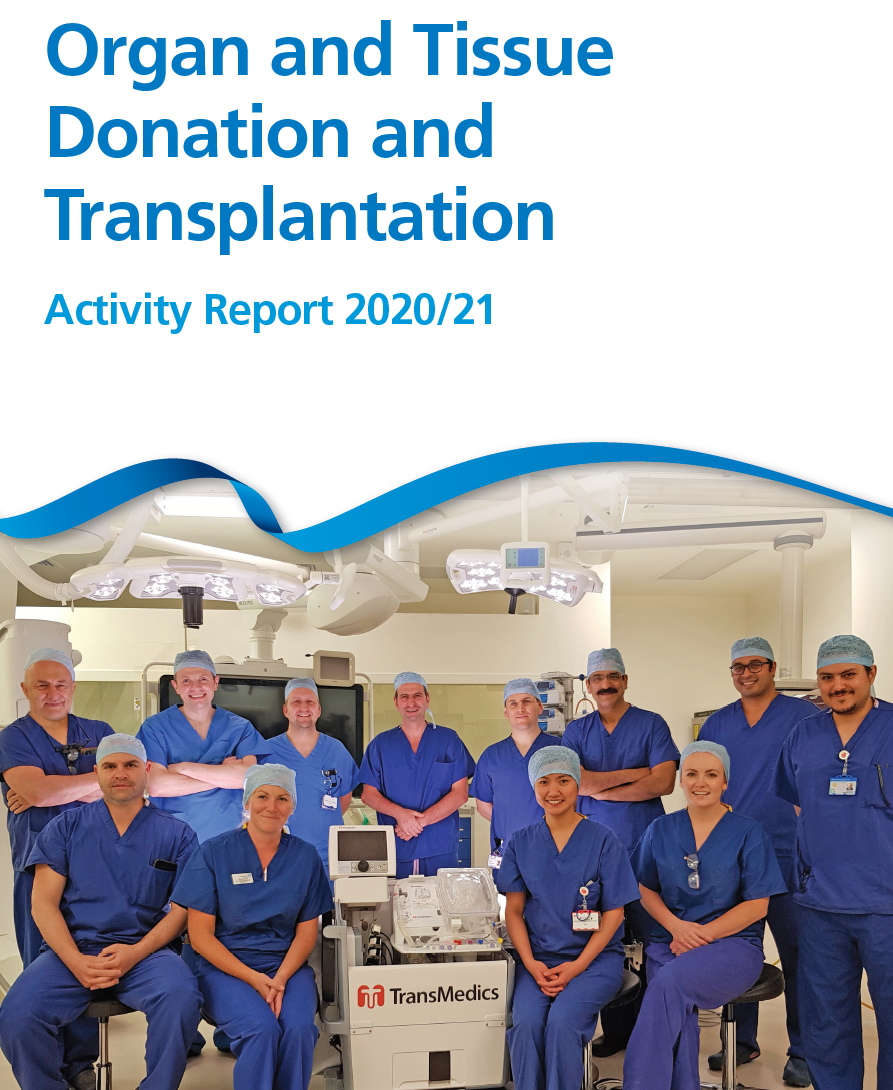 Transplant Activity Report front cover
