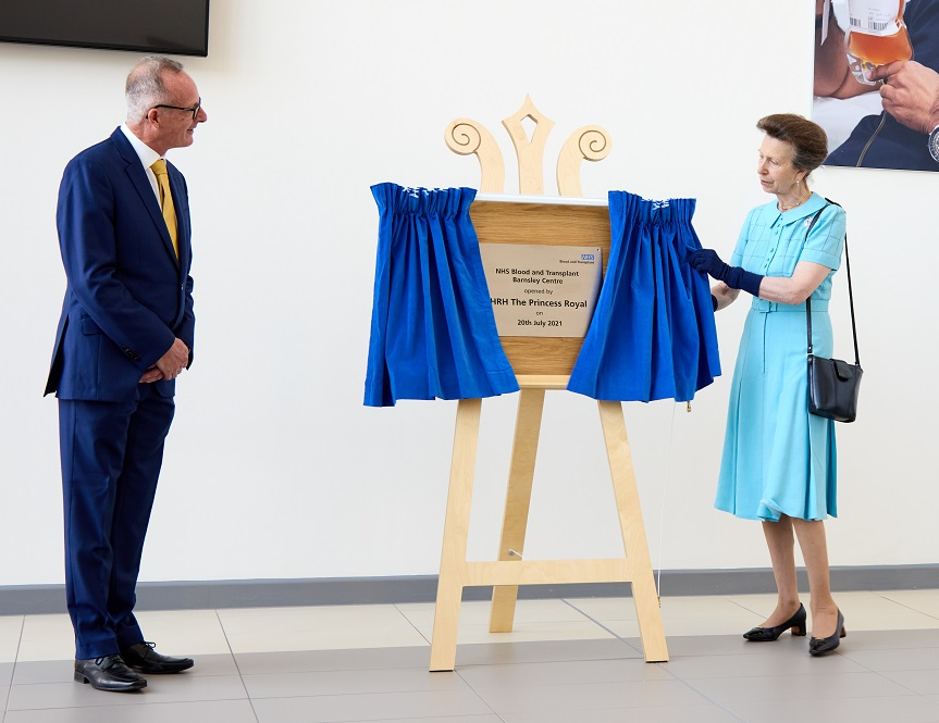 HRH Princess Royal opens the new centre in Barnsley