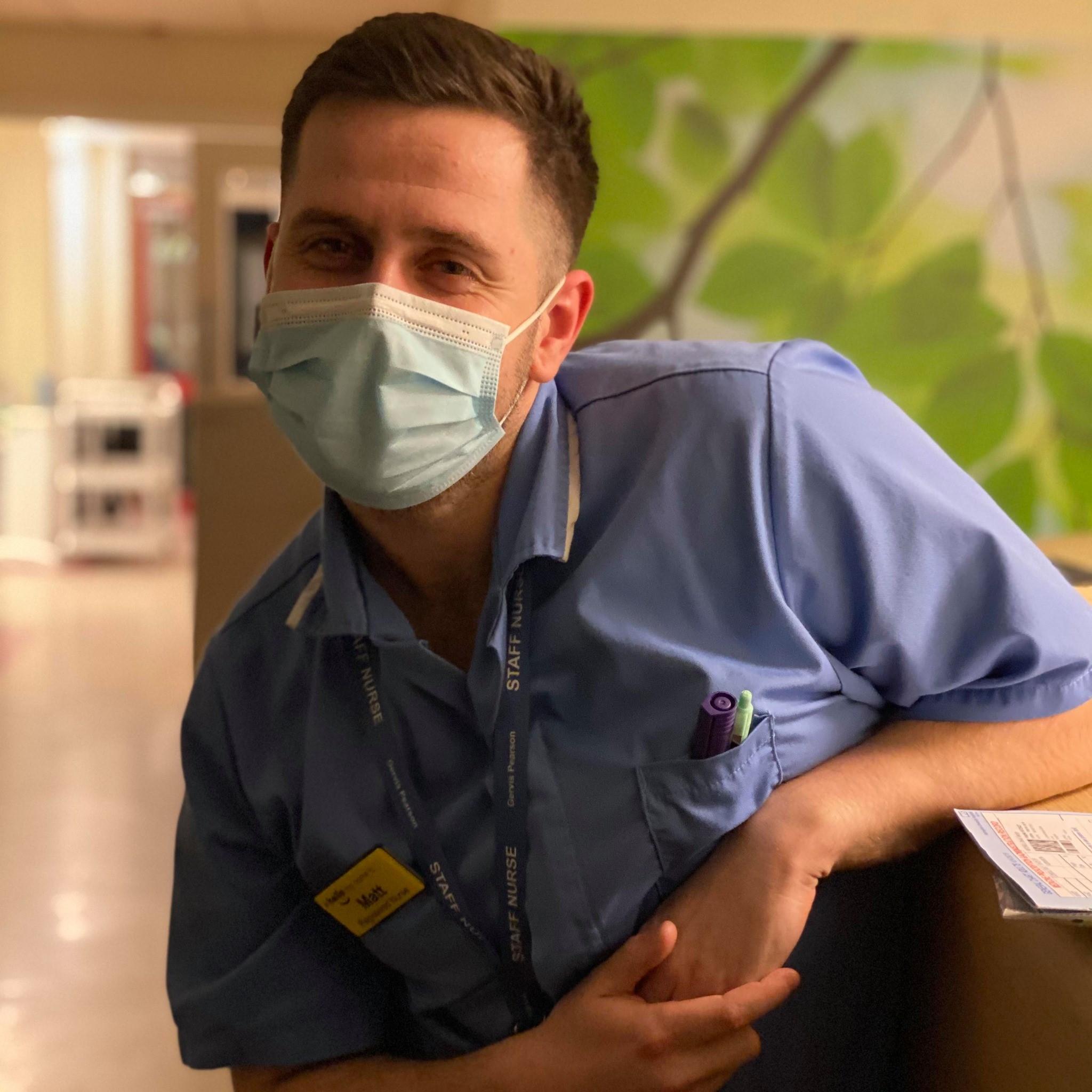 Matt at work