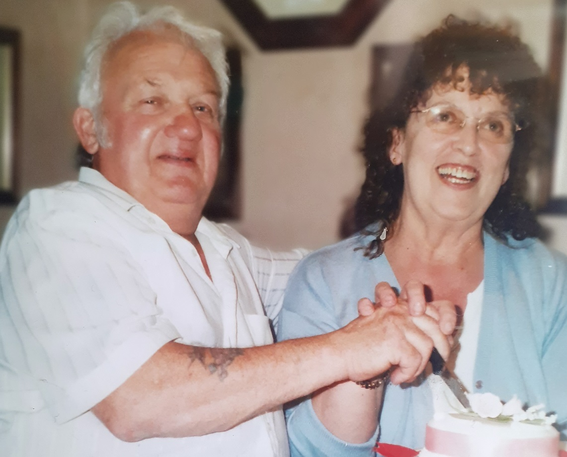 Eric Decamps with his wife