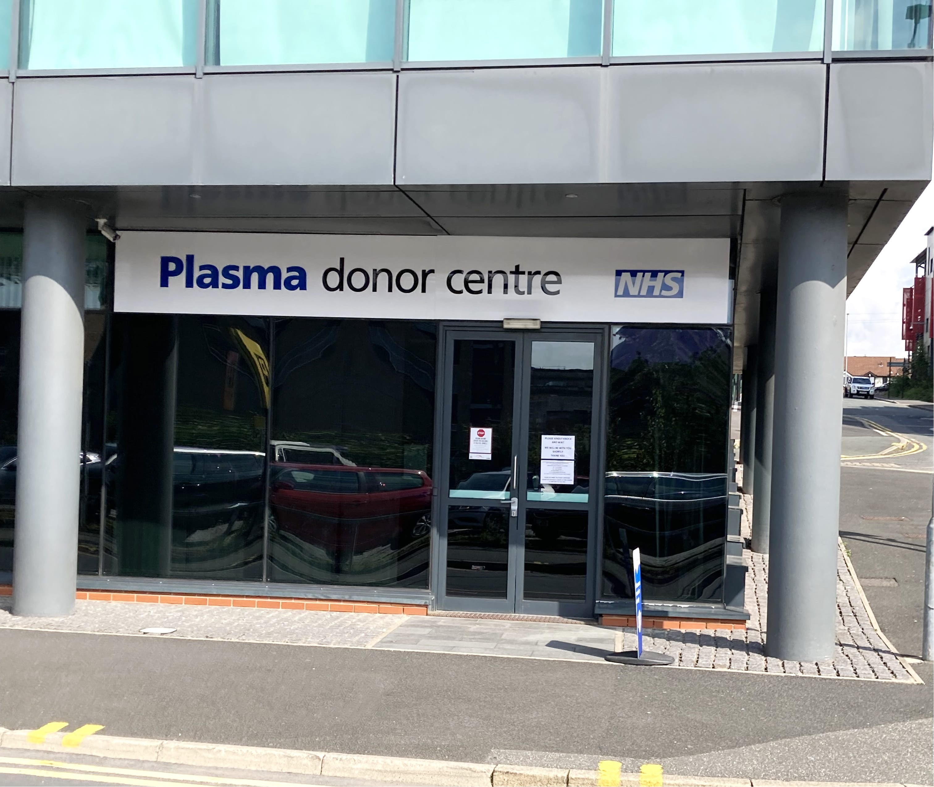 Front of Bolton Donor Centre