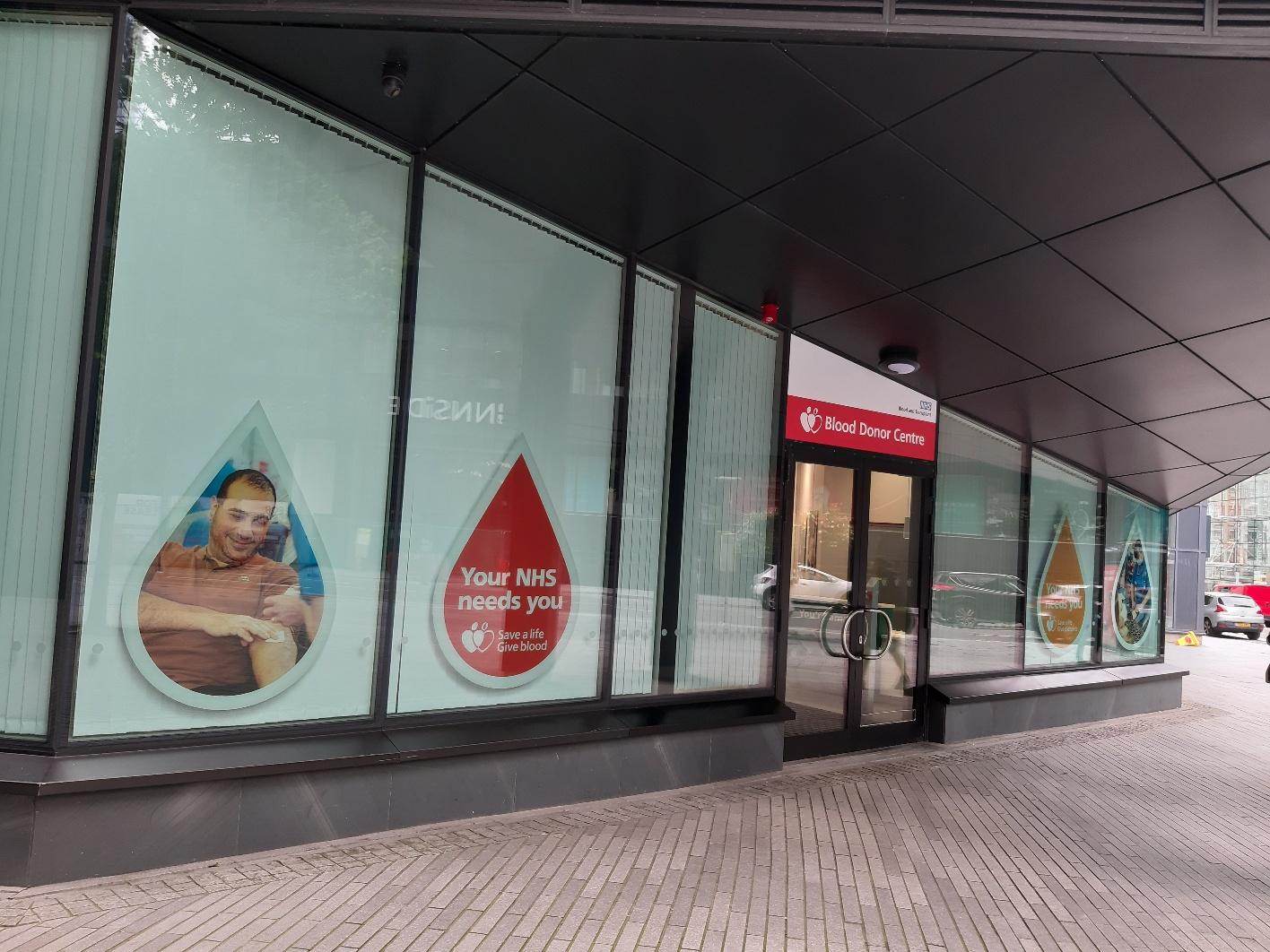 Liverpool Donor Centre entrance