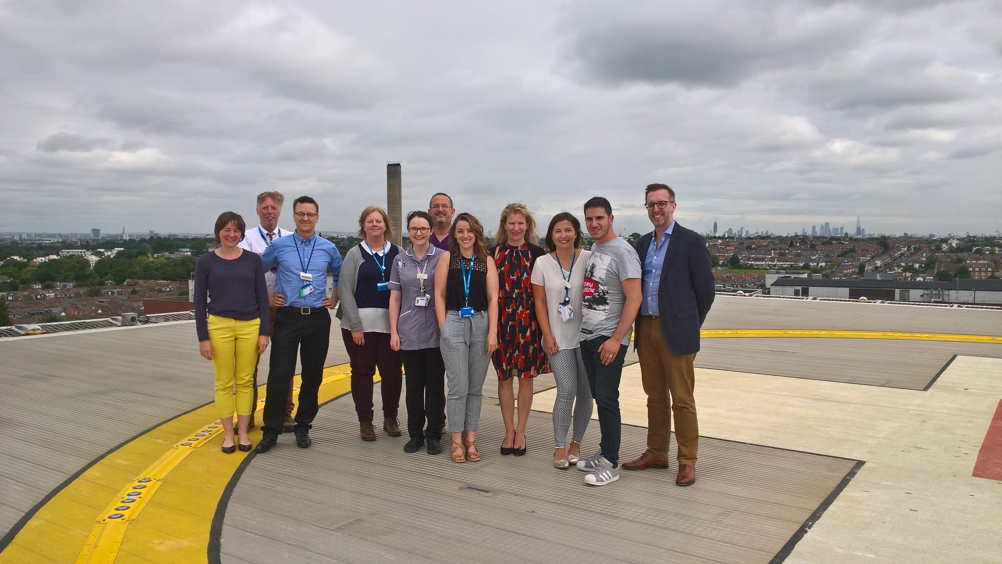 Cryostat 2 trial management and St George`s research teams