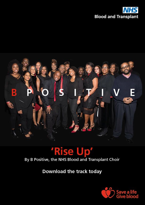 B Positive Choir A4 poster