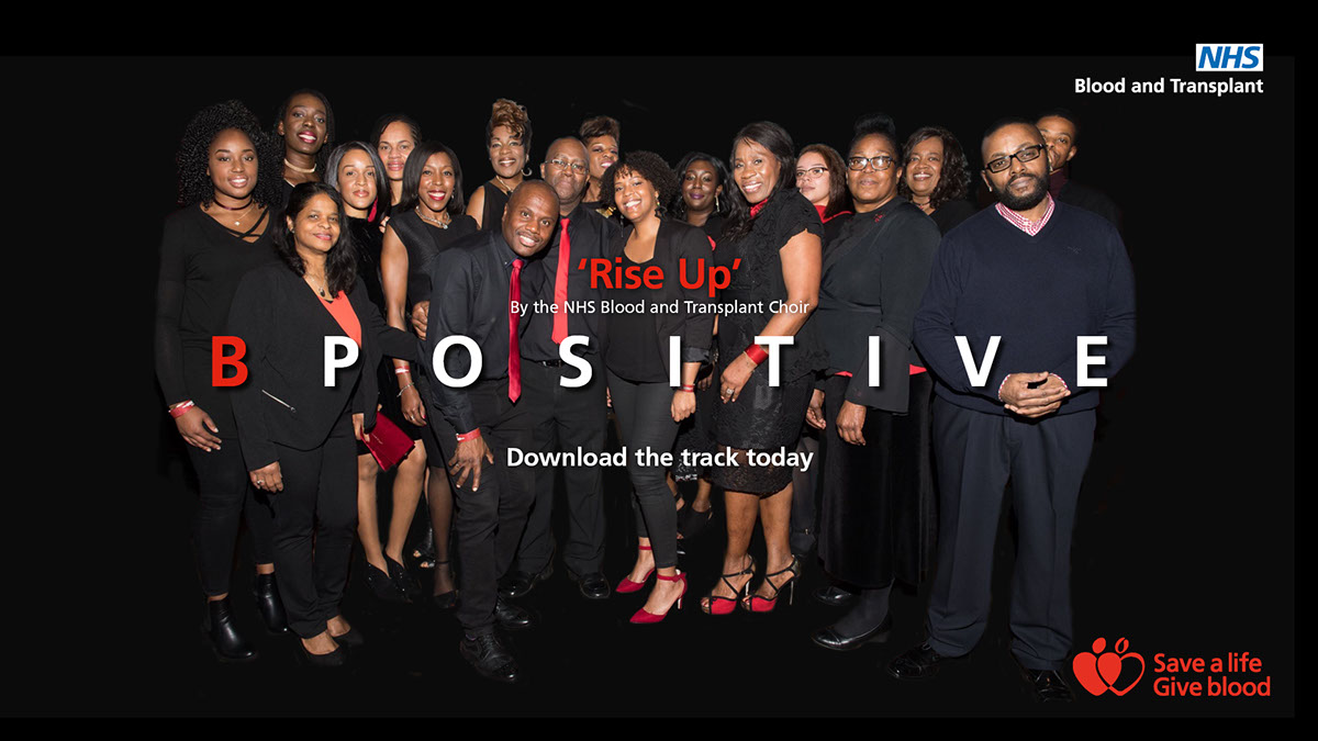B Positive Choir screensaver