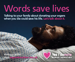 Words save lives - male patient image