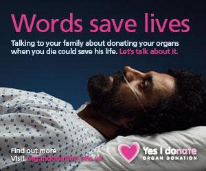 Words save lives - male patient image