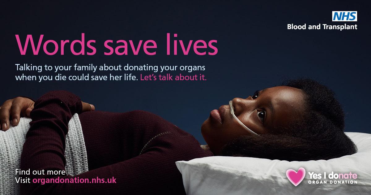 Words save lives Facebook image - female patient