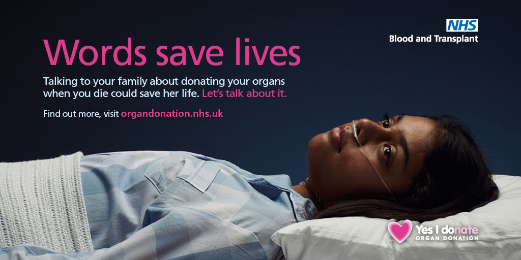 Words save lives Twitter image - female patient 2