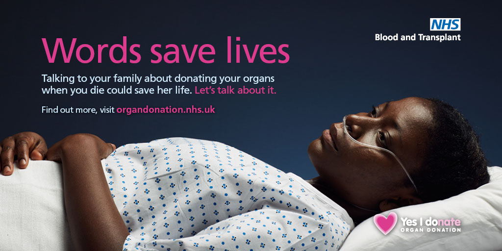 Words save lives Twitter image - female patient