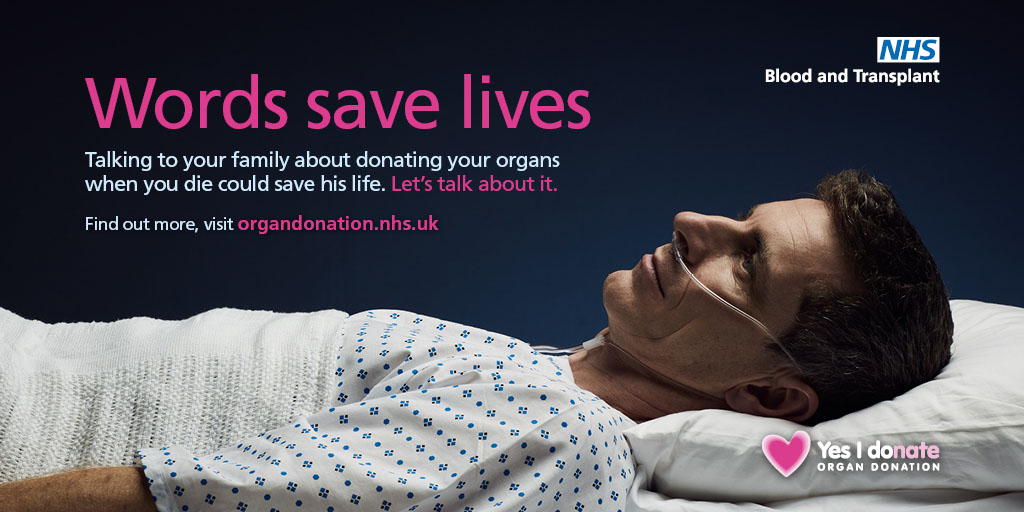 Words save lives Twitter image - male patient