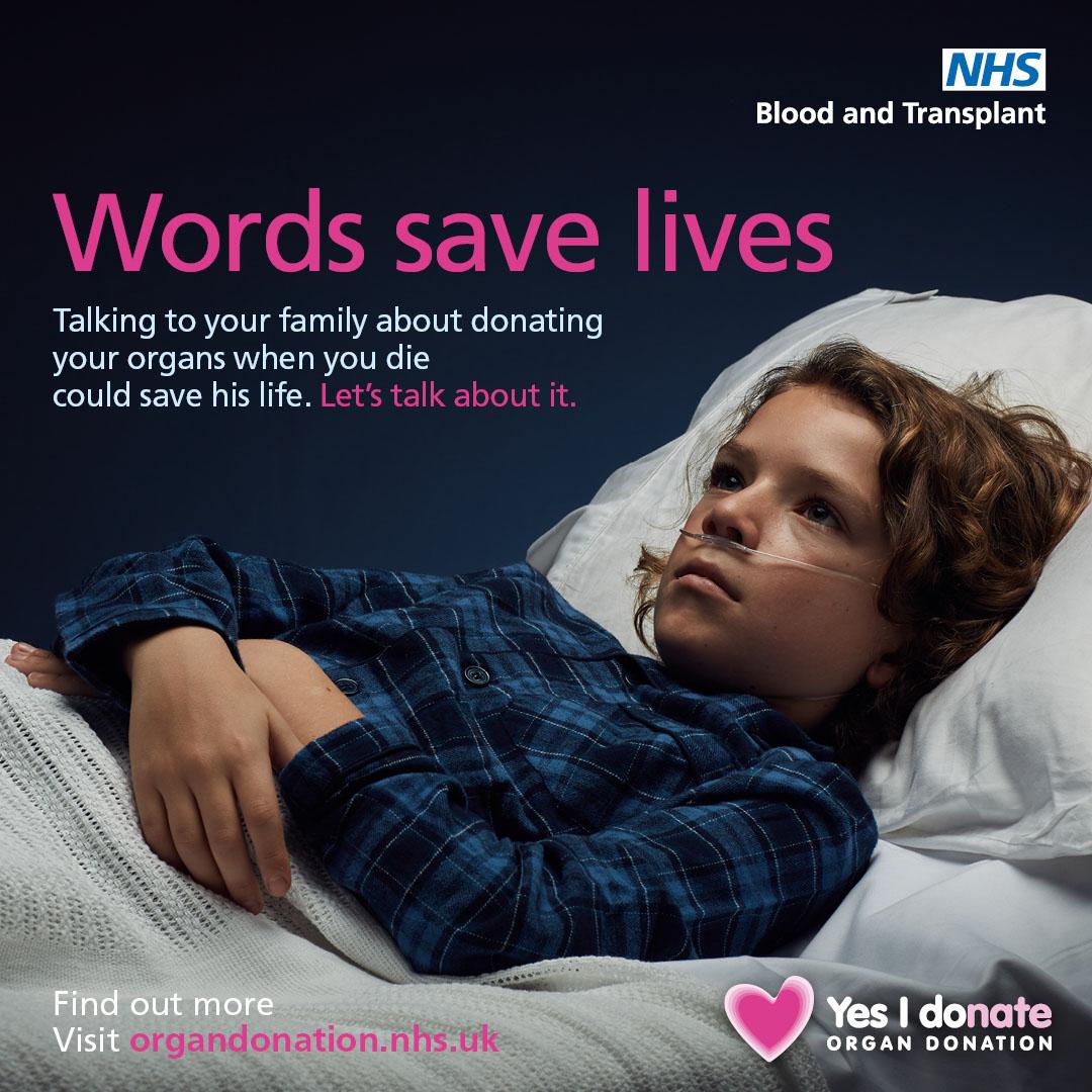 Words save lives Instagram image - child patient