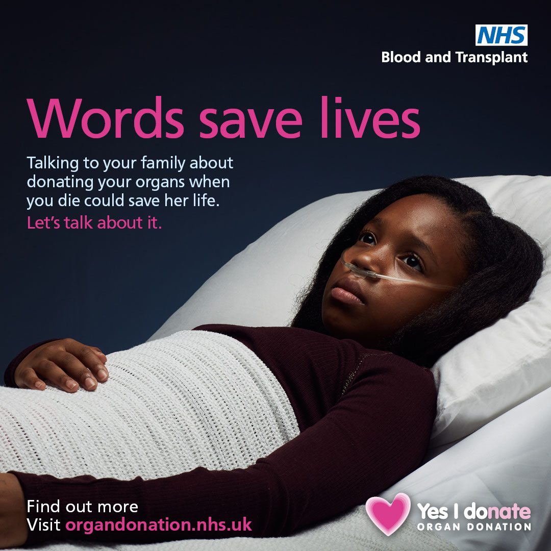 Words save lives Instagram image - female patient