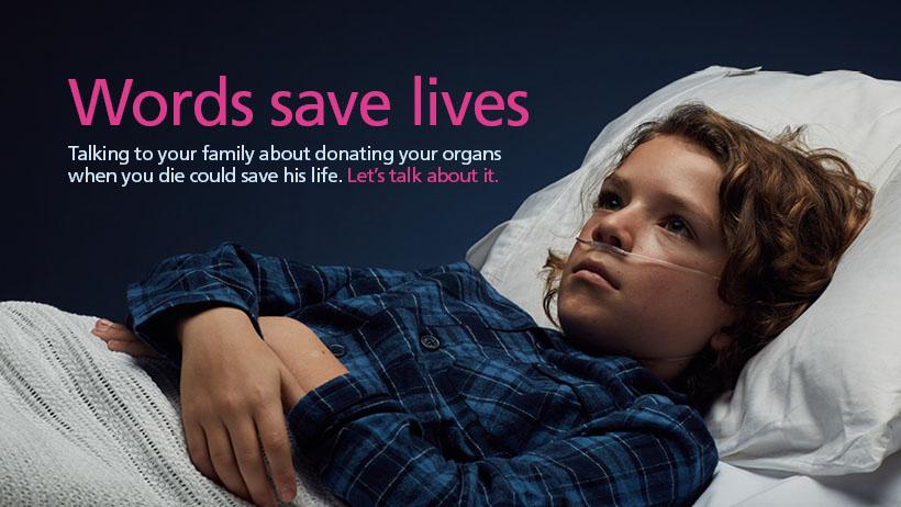 Words save lives Facebook cover - child image