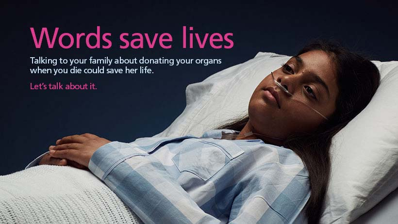 Words save lives Facebook cover - female image 2