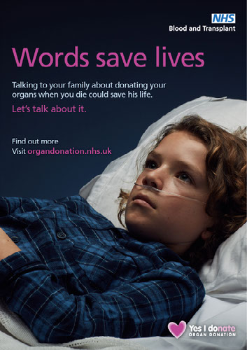 Words save lives poster - child patient