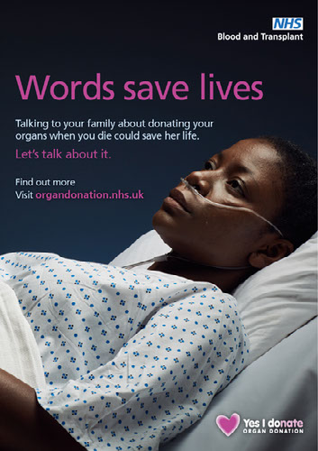 Words save lives poster - female patient 2