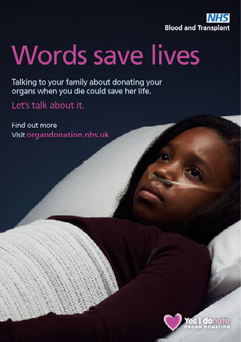 Words save lives poster - female patient 3