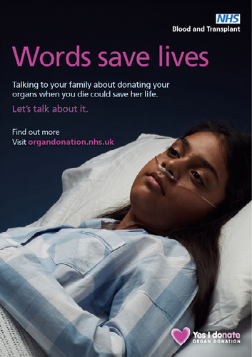 Words save lives poster - female patient