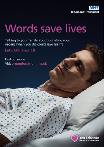 Words save lives poster - male patient