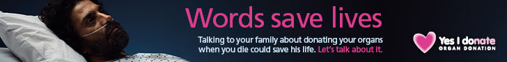 Words save lives leaderboard banner - male patient