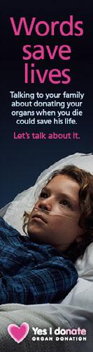 Words save lives skyscraper wide - child patient