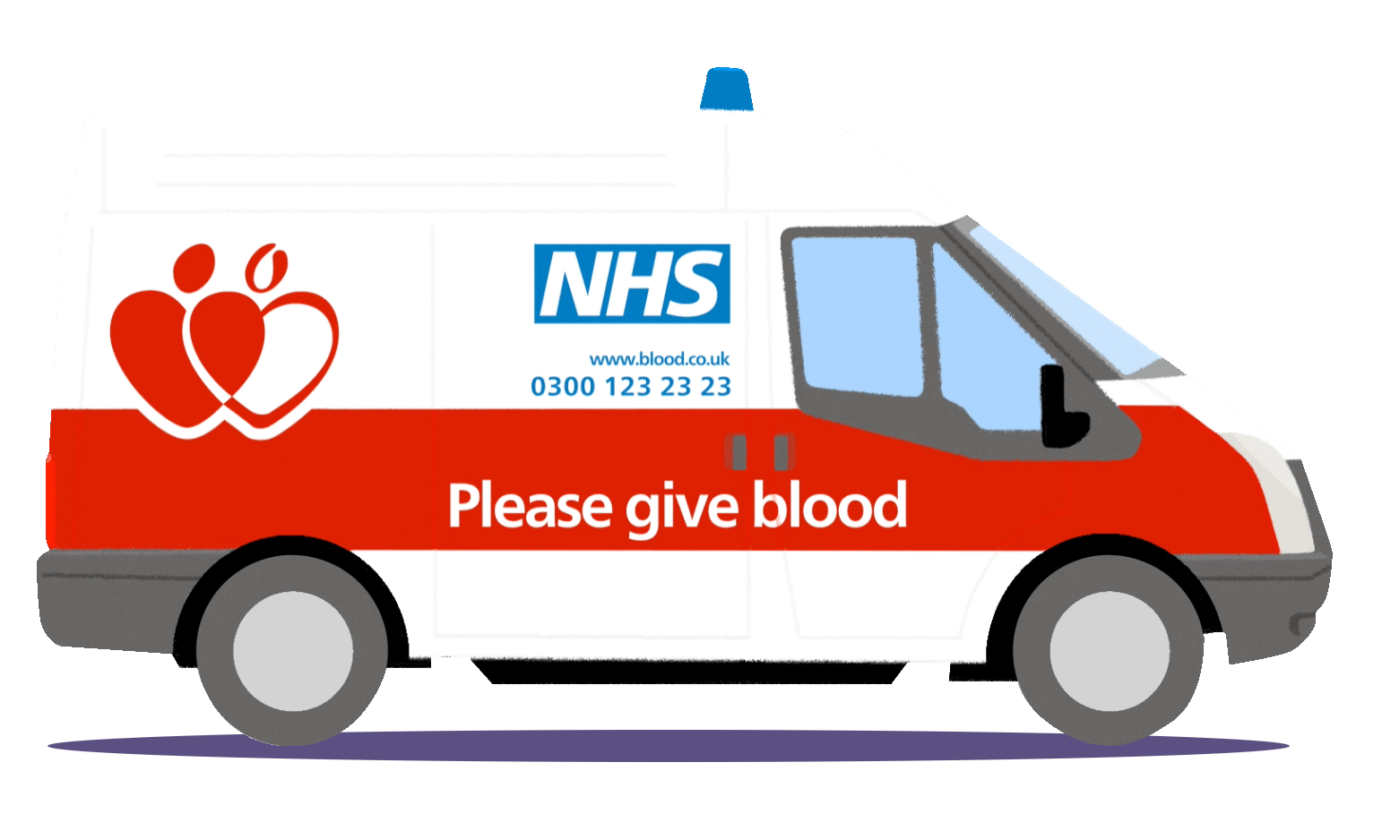 NHS Give Blood van