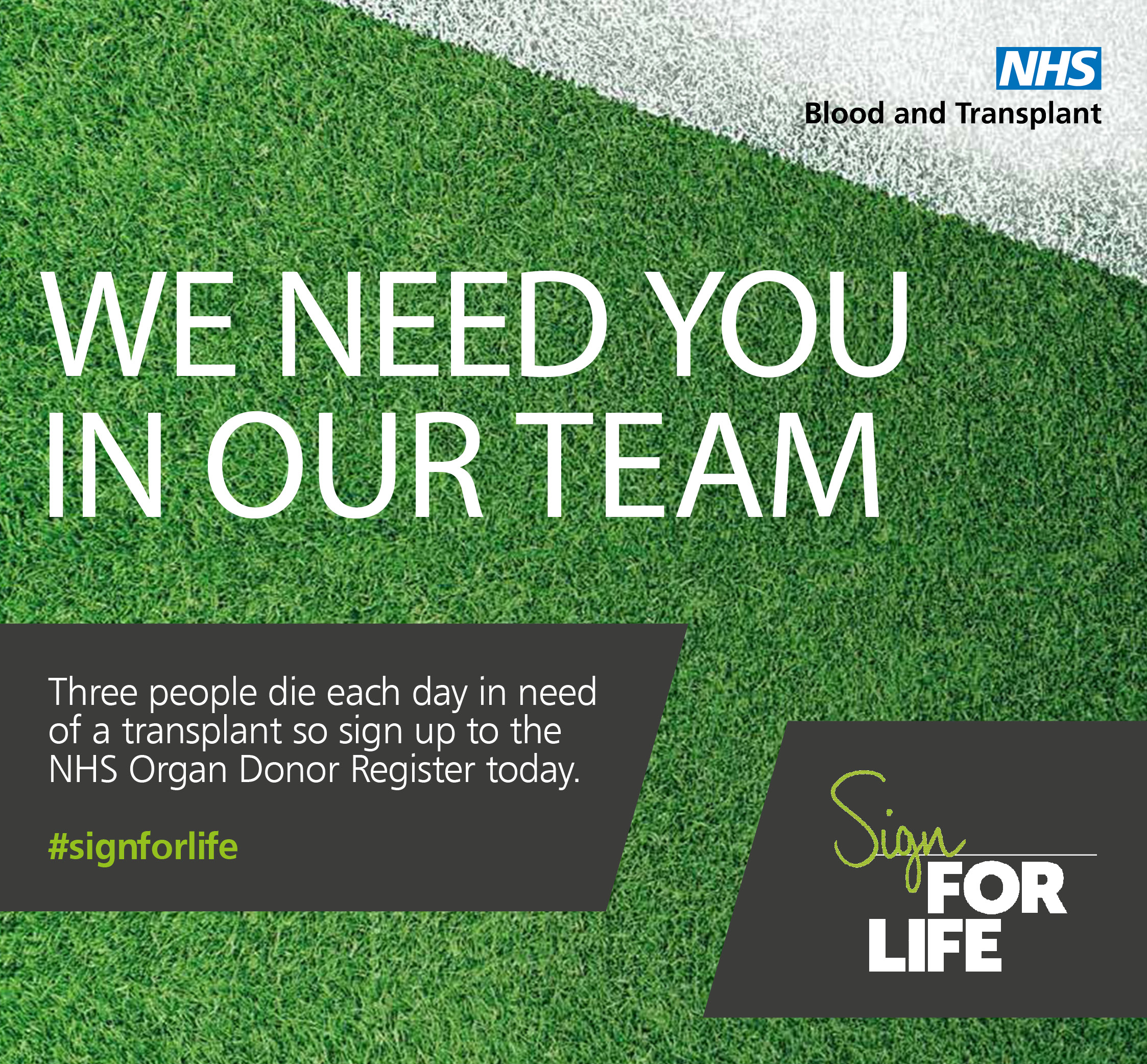 Sign For Life mid-page banner