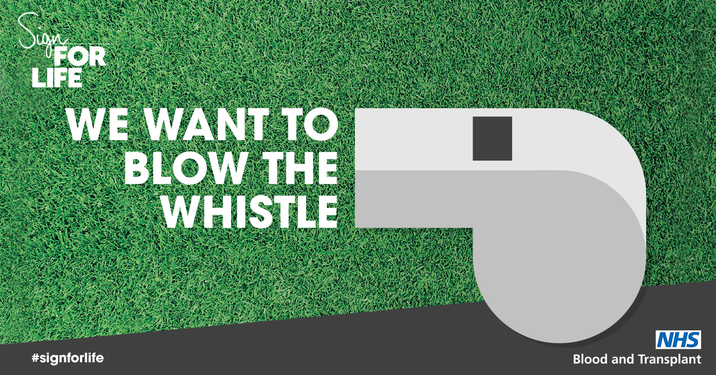 We want to blow the whistle Twitter image