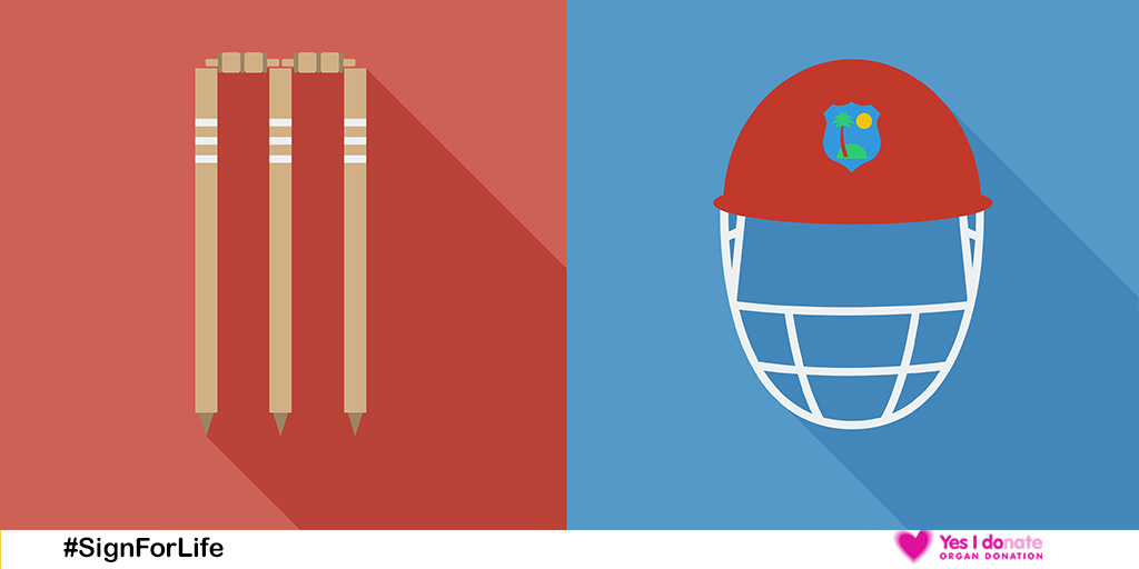 Helmet and stumps Twitter image