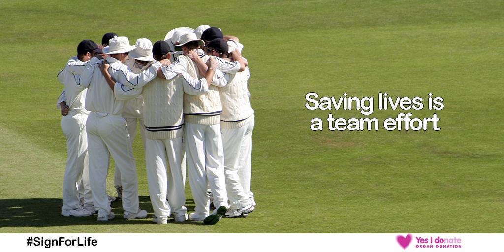 Saving lives is a team effort Twitter image