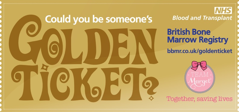 British Bone Marrow Registry Golden Ticket