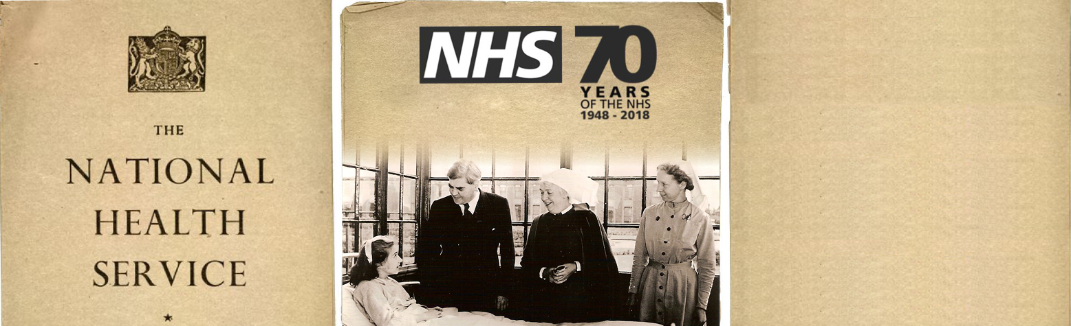 70 years of the NHS - commemorative banner
