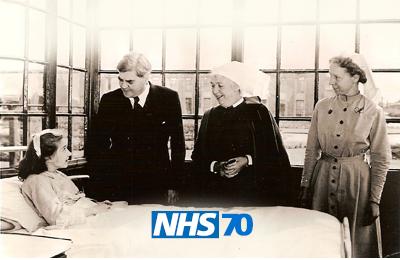 Aneurin Bevan with NHS nurses: NHS70